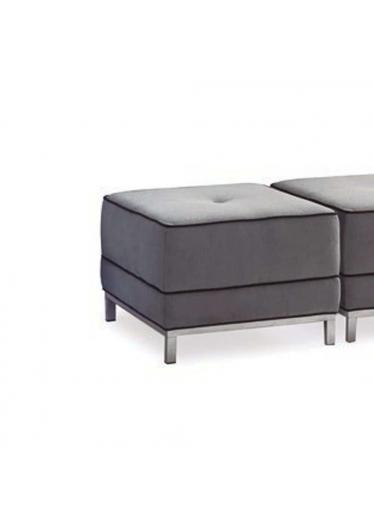 Puff Apolo Assento com Botão e Cordão Pés em Alumínio Design Atemporal e Moderno Casa A Móveis