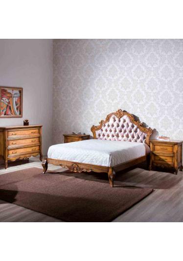 Criado Mudo Luxo Madeira Maciça Design Clássico Avi Móveis