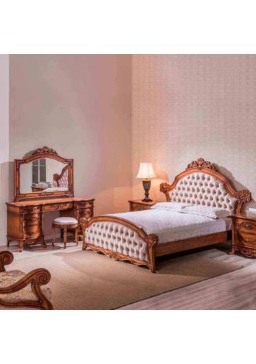 Cabeceira de Cama Premier com Capitonê Madeira Maciça Design Clássico Avi Móveis