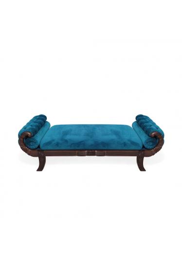 Recamier de Luxo Baixo Madeira Maciça Design Classico