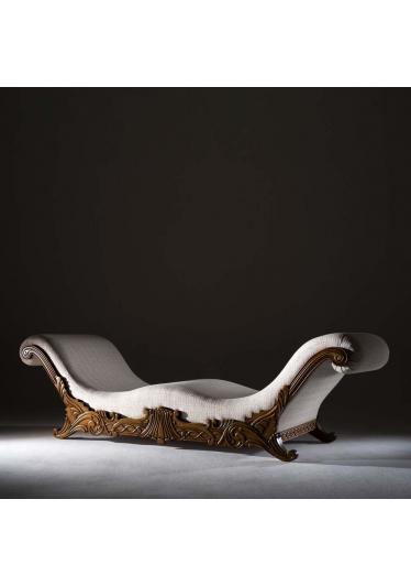 Recamier Hillux Madeira Maciça Design Clássico Avi Móveis
