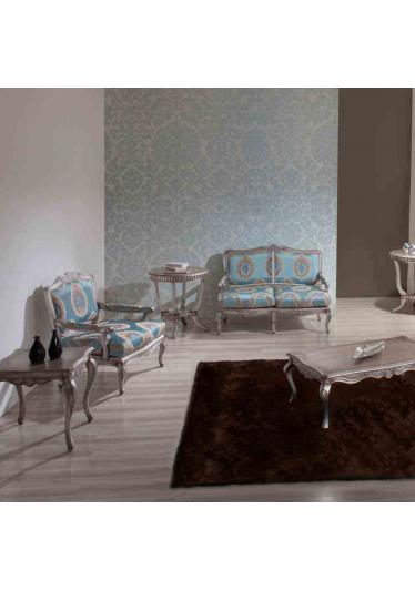 Mesa de Centro Gold Madeira Maciça Design Clássico Avi Móveis 1