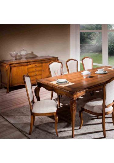 Mesa de Jantar Hillux Madeira Maciça Design Clássico Avi Móveis