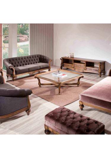 Rack de Som Luxo Madeira Maciça Design Clássico Avi Móveis