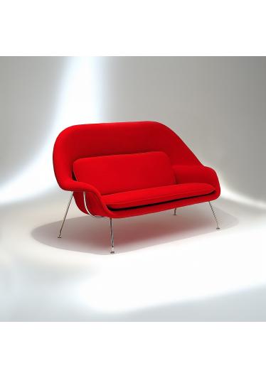 Sofá Womb Estrutura Aço Inox Studio Mais Design by Eero Saarinen