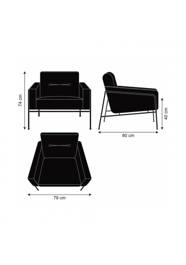 Sofá Jacobsen 3300 1L Design Arne Jocobsen