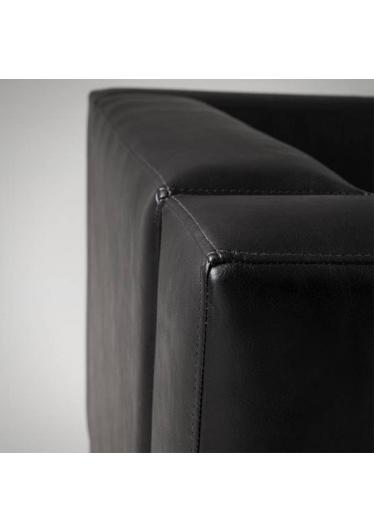 Sofá Quadra1 Lugar Estrutura Aço Inox Design by Studio Artesian