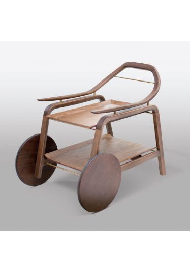 Carrinho de Bar Beak Estilo Minimalista Destack Móveis Design by Mauricio Bomfim