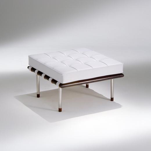 Banqueta Capri Madeira e Aço Inox Design by Studio Mais