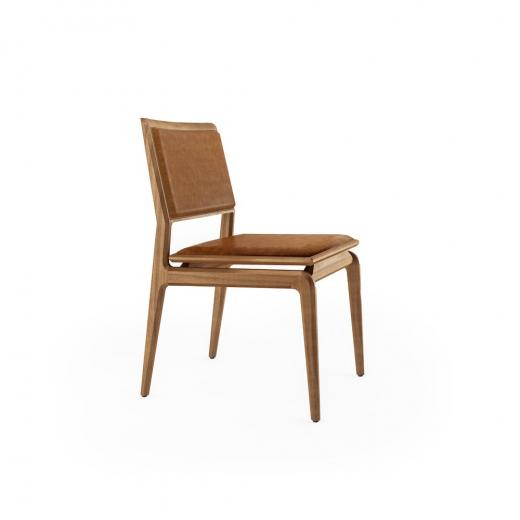 Cadeira Aria Estofada Base Jequitibá Coleção Bari Tremarin Design by Fernando Sá Motta
