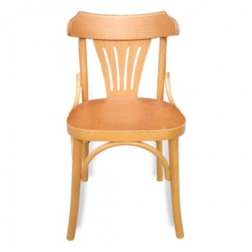 Cadeira Berlim de Design em Madeira Maciça com Pintura em Mel