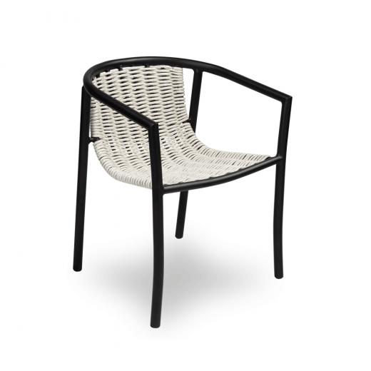 Cadeira Bonanza para Área Externa Trama Corda Náutica Estrutura Alumínio Eco Friendly Design Scaburi