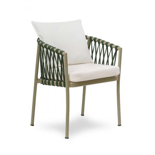 Cadeira Califórnia para Área Externa Trama Corda Náutica Estrutura Alumínio Eco Friendly Design Scaburi