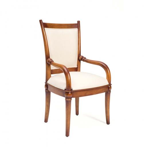 Cadeira Victory com Braço Madeira Maciça Design Clássico Avi Móveis