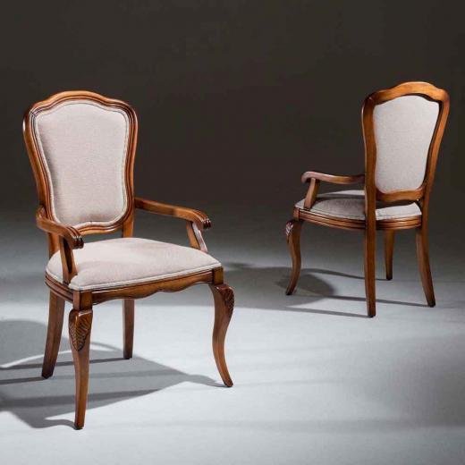 Cadeira Hillux com Braço Madeira Maciça Design Clássico Avi Móveis
