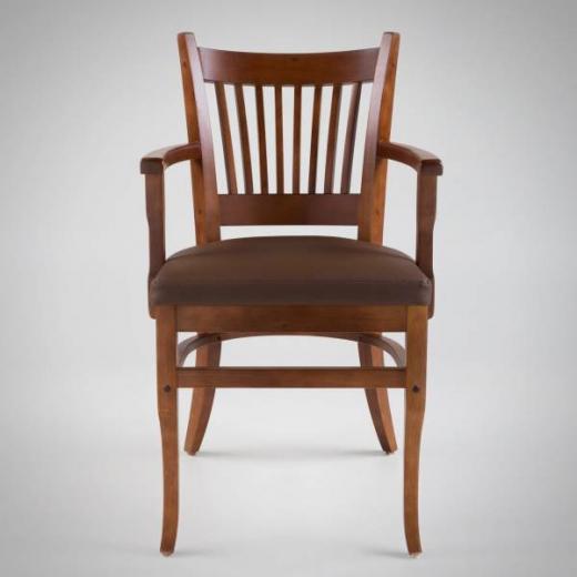 Cadeira com Braço Madero Estrutura Madeira Maciça Design by Studio Artesian