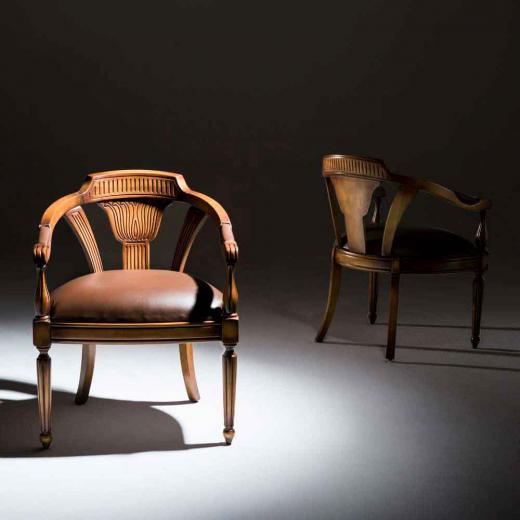 Cadeira de Jogos Luxo com Braço Madeira Maciça Design Clássico Avi Móveis