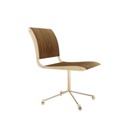 Cadeira Falx Office Madeira Maciça Jequitibá Rodízios Coleção Bari Tremarin Design by Fernando Sá Motta