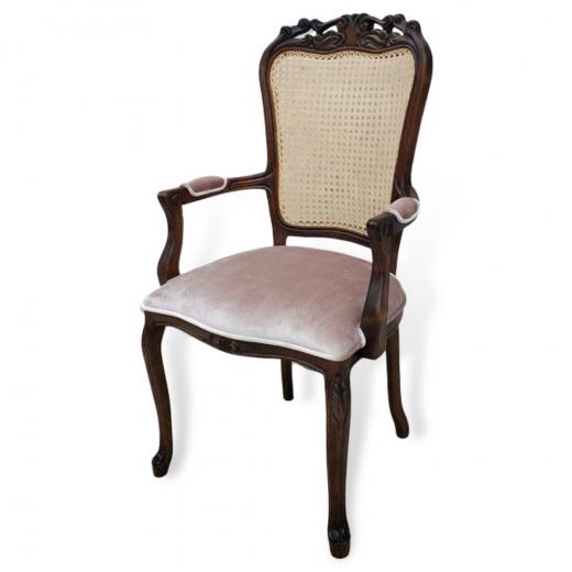 Cadeira Luis XV Palhinha com Braço