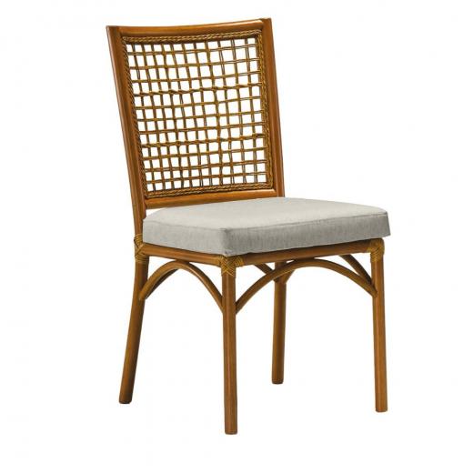 Cadeira Turati Trama Junco Natural Madeira Eucalipto e Apuí Design by Studio Ozki