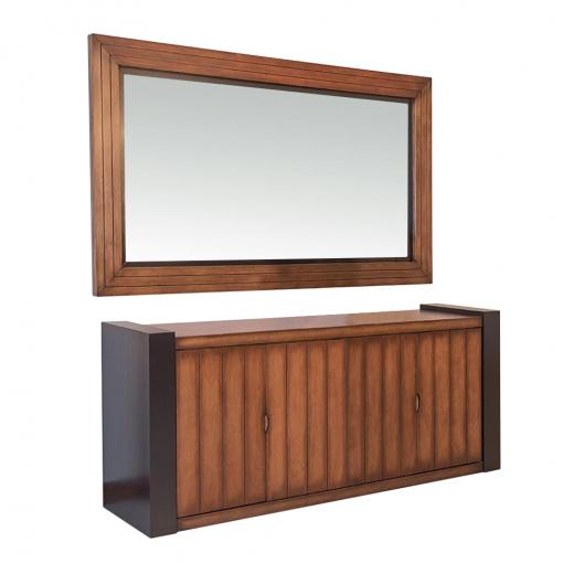 Conjunto Enzo Balcão e Moldura com Espelho Madeira Maciça Design Clássico Avi Móveis