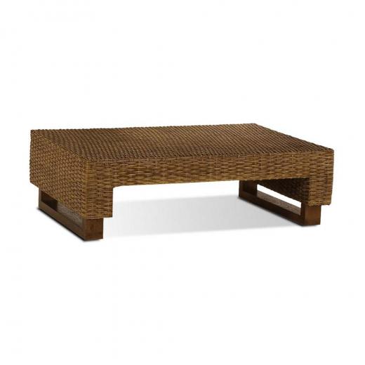 Mesa de Centro Manaus Junco Envelhecido Estrutura Madeira Eco Friendly Design Scaburi