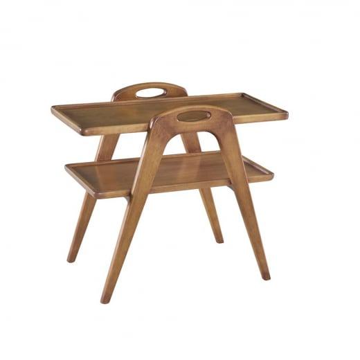 Mesa de Chá Fascino Affeto Madeira Maciça Design Clássico Avi Móveis