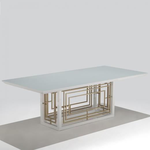 Mesa de Jantar Apollo Retangular Madeira Maciça Jequitibá Tremarin Design by Studio Marko20