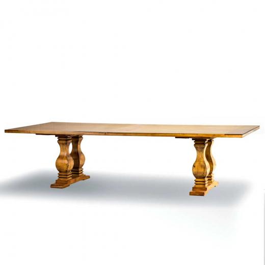 Mesa de Jantar Casual Madeira Maciça Design Clássico Avi Móveis
