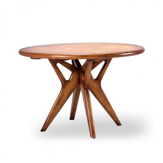 Mesa de Jantar Affeto Redonda Madeira Maciça Design Clássico Avi Móveis