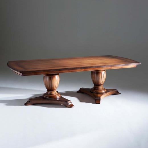 Mesa de Jantar Inspiração Madeira Maciça Design Clássico Avi Móveis