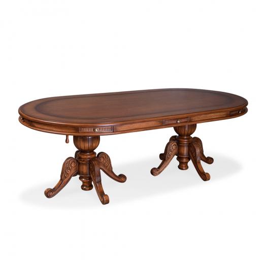 Mesa de Jogos Luxo Oval com Gavetas Madeira Maciça Design Clássico Avi Móveis