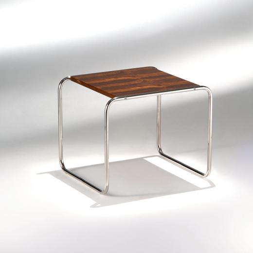 Mesa Lateral Laccio Estrutura Aço Inox Studio Mais Design by Marcel Breuer
