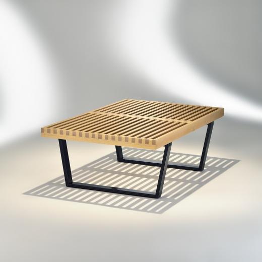 Mesa de Centro Plataforma Estrutura Madeira Ebanizada Studio Mais Design by George Nelson
