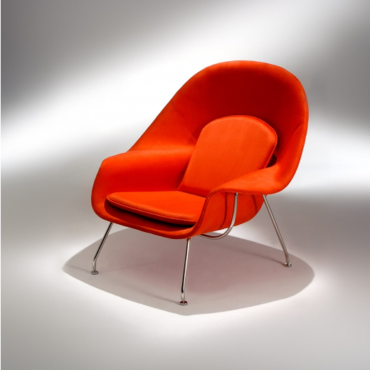 Poltrona Berger Saarinen Estrutura Aço Inox Studio Mais Design by Eero Saarinen