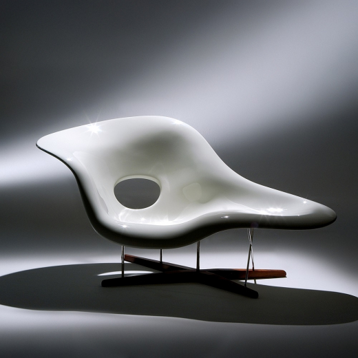 Poltrona La Chaise Aço Inox Madeira Maciça e Fibra com Pintura Studio Mais Design by Charles e Ray Eames