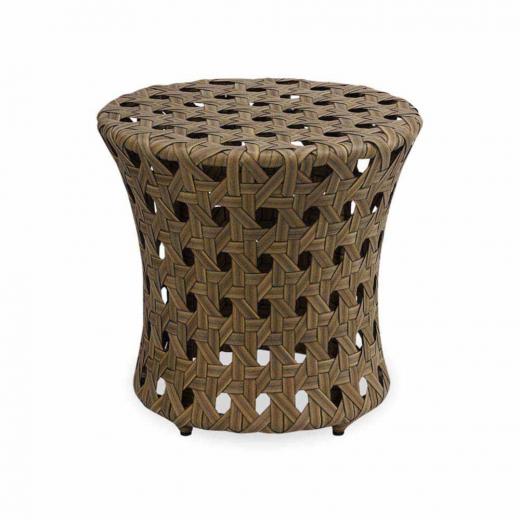 Puff Chet para Área Externa Fibra Sintética Estrutura Alumínio Eco Friendly Design Scaburi