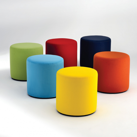 Puff Visiona Base Disco MDF Ebanizado Studio Mais Design by Verner Panton